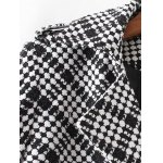 Plus Size Plaid Double Breasted Long Wool Coat deal