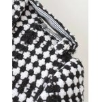 Plus Size Plaid Double Breasted Long Wool Coat for sale