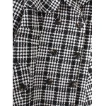 Plus Size Plaid Double Breasted Long Wool Coat photo