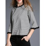 cheap Two Tone Striped Sweater
