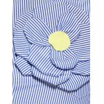 Plus Size Stereo Flower Striped Shirt photo