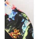 best Flower Print Patchwork Bomber Jacket with Sporty Pants
