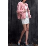 Mink Fur Collarless Coat for sale