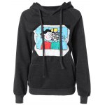 Pocket Fleece Patterned Hoodie