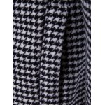 best Single-Breasted Houndstooth Pattern Woolen Coat