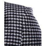 Single-Breasted Houndstooth Pattern Woolen Coat deal