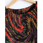 Plus Size Galaxy Print 3/4 Sleeve T Shirt deal
