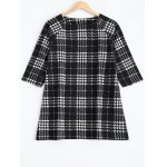 Plus Size Checkered Printed Blouse