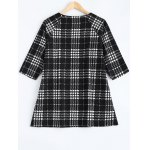 cheap Plus Size Checkered Printed Blouse
