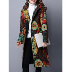 cheap Hooded Printed Quilted Coat