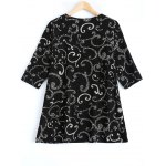 cheap Plus Size Clouds Printed Blouse