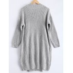 cheap Ribbed Knitted Dress + Loose-Fitting Cardigan Twinset