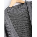 Ribbed Knitted Dress + Loose-Fitting Cardigan Twinset for sale
