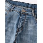 Ribbed Panel Scratched Zipper Fly Five-Pocket Jeans deal