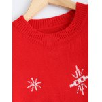 Christmas Snowman Pattern Pullover Sweater deal