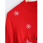best Christmas Snowman Pattern Pullover Sweater