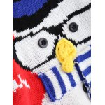 Christmas Snowman Pattern Pullover Sweater photo
