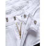 Zippered Pocket Contrast Panel Skinny Jeans photo