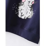 Plus Size Bunny Printed Sweatshirt for sale
