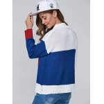 Color Block A Jacquard Pullover Sweater deal