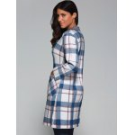 Plaid Wool Blend Coat with Pockets for sale