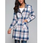 Plaid Wool Blend Coat with Pockets