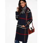 Hooded Plaid Coat with Pockets deal