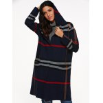 cheap Hooded Plaid Coat with Pockets