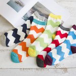cheap One Set Wave Pattern Casual Jacquard Socks