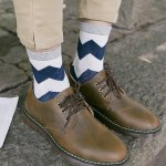 One Set Wave Pattern Casual Jacquard Socks photo