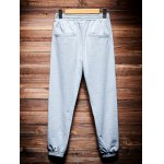 cheap Pocket Back Shirred Waistband Drawstring Jogger Pants