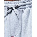 Pocket Back Shirred Waistband Drawstring Jogger Pants deal