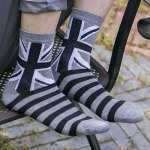 One Set Stripe and Star and Rhombus and British Flag Pattern Vintage Socks deal