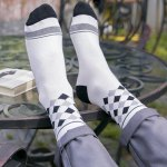 One Set Stripe and Star and Rhombus and British Flag Pattern Vintage Socks for sale