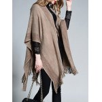 Plus Size Fringed Asymmetrical Cape deal