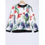 Casual 3D Tropical Plant Print Long Sleeve T-Shirt photo