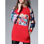 cheap Long Floral Thickening Sweatshirt