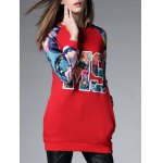 Long Floral Thickening Sweatshirt