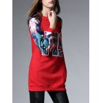 Long Floral Thickening Sweatshirt deal