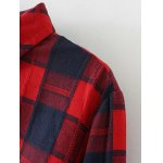 Plus Size Slit Long Sleeve Plaid Shirt deal