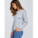 Round Neck Loose Lace-Up Sweatshirt photo