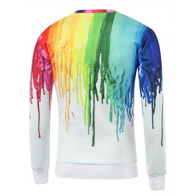 colorful-paint-dripping-print-round-neck-sweatshirt