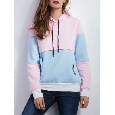 Color Spliced Pullover Hoodie