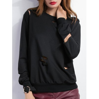 Pullover Broken Hole Sweatshirt