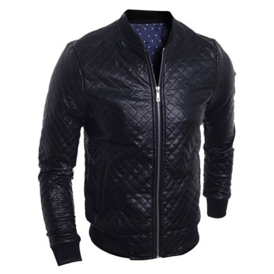 Stand Collar Long Sleeve Bomber Jacket