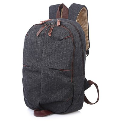Concsie Zips Canvas Backpack