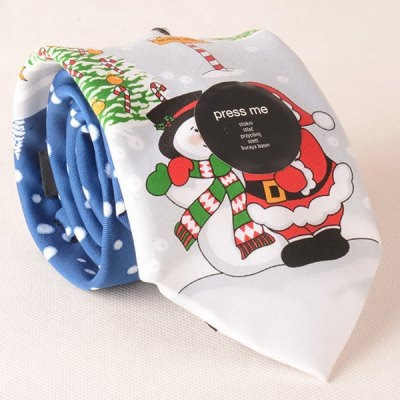 Santa Claus Light Up and Singing Design Christmas Tie