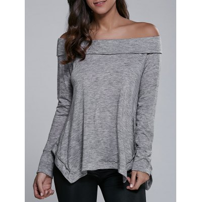 Off-The-Shoulder Asymmetrical Blouse