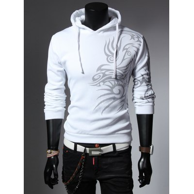 Drawstring Long Sleeves Hoodie