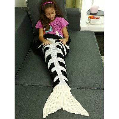 Soft Knitted Sofa Kids Mermaid Tail Blanket